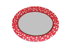 Red Oval Mosaic Mirror, OVAL Mosaic Mirror, Green Street Mosaics