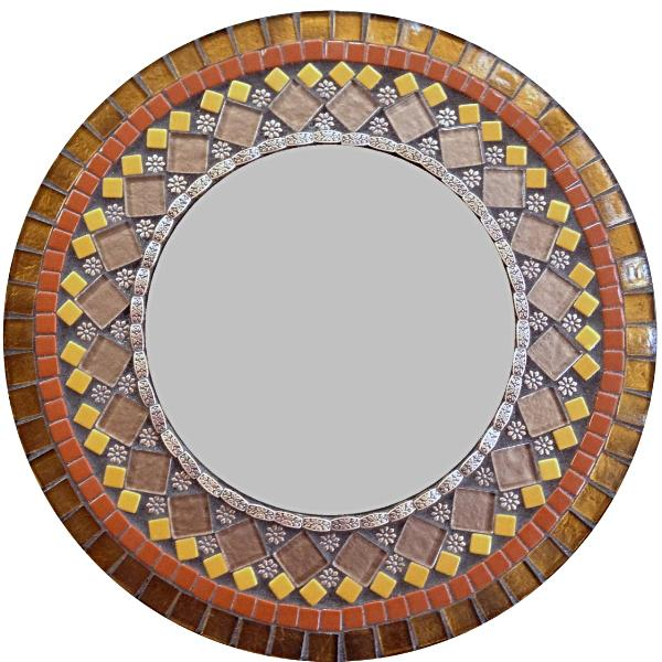 Brown Mosaic Wall Mirror