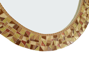 Oval Mosaic Mirror in Brown, OVAL Mosaic Mirror, Green Street Mosaics