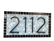 Mosaic Address Sign, House Number Sign, Green Street Mosaics