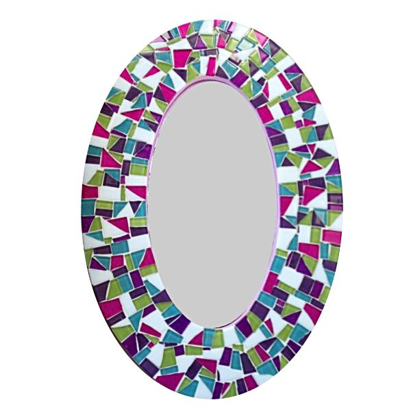 Decorative Mosaic Mirror, OVAL Mosaic Mirror, Green Street Mosaics
