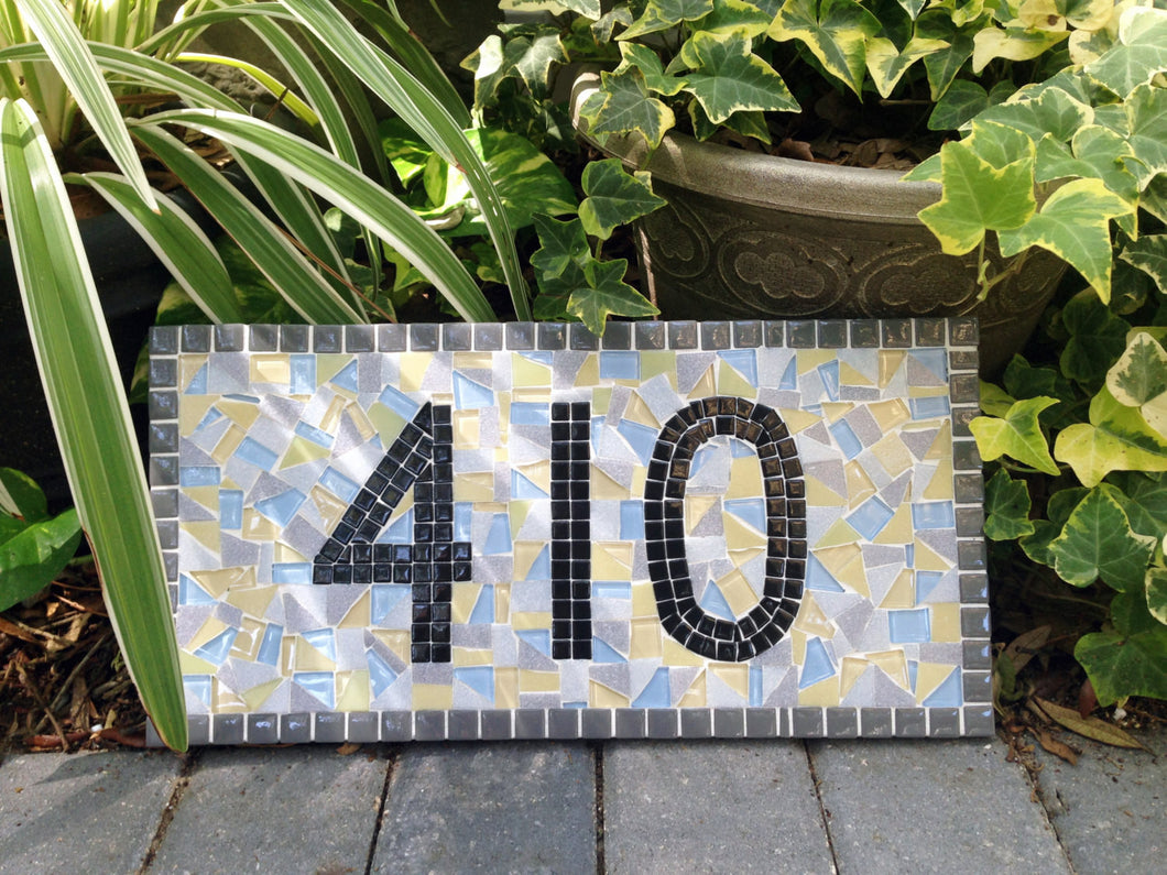 Outdoor House Numbers, House Number Sign, Green Street Mosaics