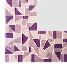 Purple Mosaic Mirror, Rectangular Mosaic Mirror, Green Street Mosaics