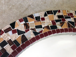 mosaic mirror with tiles