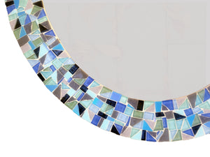 Large Oval Mosaic Mirror, OVAL Mosaic Mirror, Green Street Mosaics