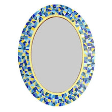 Yellow and Blue Mosaic Mirror