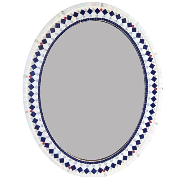 Nautical Mirror, OVAL Mosaic Mirror, Green Street Mosaics