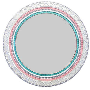 Round Mosaic Mirror for a Nursery