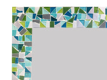 Teal and Lime Green Mosaic Wall Mirror