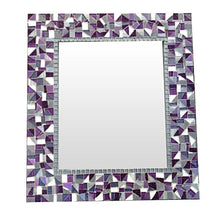 Purple and Gray Mosaic Mirror