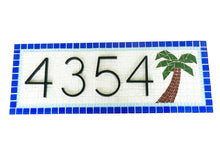House Number Sign with Palm Tree, House Number Sign, Green Street Mosaics