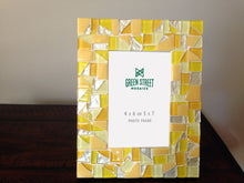 Yellow Mosaic Picture Frame, Picture Frame, Green Street Mosaics