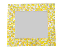 Yellow Mosaic Wall Mirror, Rectangular Mosaic Mirror, Green Street Mosaics