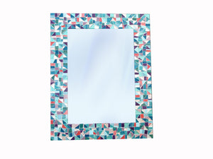 Mirror for Nursery, Rectangular Mosaic Mirror, Green Street Mosaics