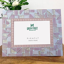Pink Mosaic Picture Frame, Picture Frame, Green Street Mosaics