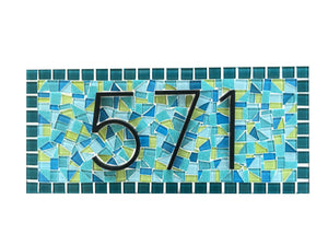 Mosaic House Number Sign, House Number Sign, Green Street Mosaics