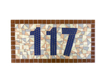 Custom Mosaic House Number Sign