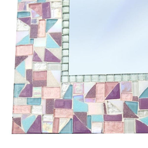 Mosaic Mirror for Nursery, Rectangular Mosaic Mirror, Green Street Mosaics