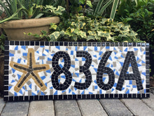 Address Sign for Apartment or Condo, House Number Sign, Green Street Mosaics