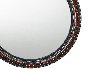 Purple and Red Wall Mirror, Round Mosaic Mirror, Green Street Mosaics