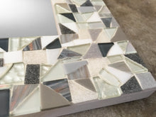 Silver, Gray, White Mosaic Wall Mirror, Rectangular Mosaic Mirror, Green Street Mosaics
