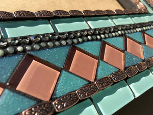 Coastal Mirror, Square Mosaic Mirror, Green Street Mosaics