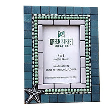 Mosaic Picture Frame for Beach House, Picture Frame, Green Street Mosaics