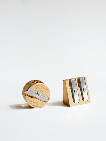 Round Brass Pencil Sharpener