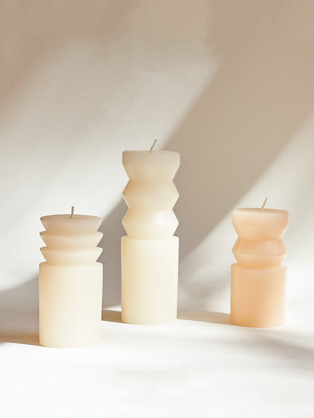 Totem candles - White