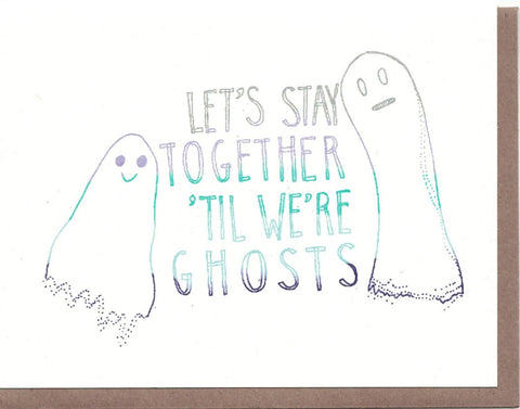Let's Be Ghosts Card