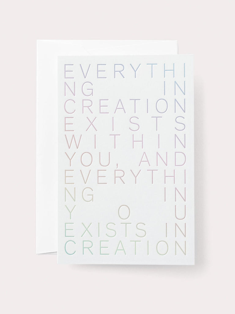 Everything In Creation Card