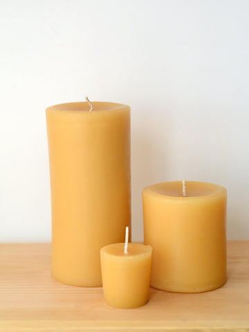 Beeswax Pillars