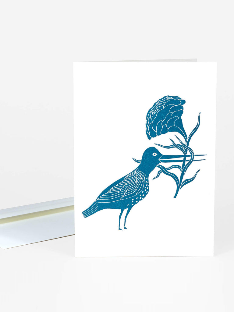 Bird With A Flower Card