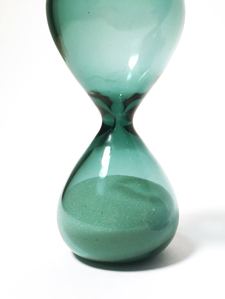 Colored Glass Hourglass