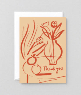 Thank You Vase Card