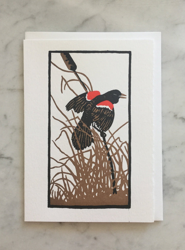 Red Wing Blackbird Card