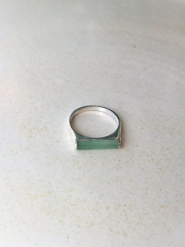 Jade Bar Ring