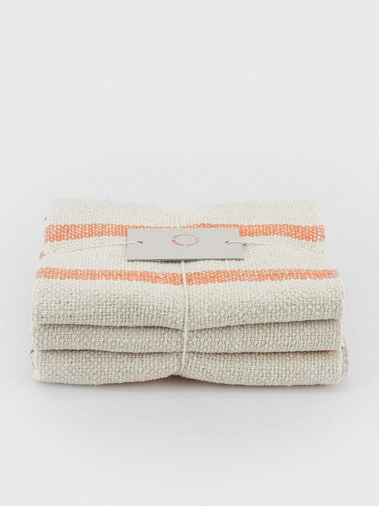 Cotton Cloths - Set of Three - Orange