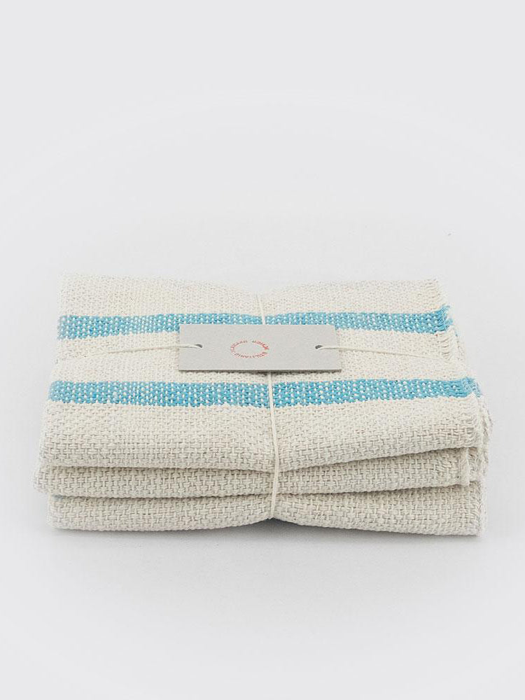 Cotton Cloths - Set of Three - Blue
