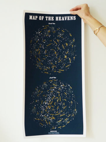 Map of the Heavens print by Margins