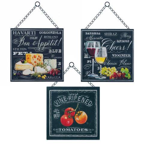 zg- BON APPETITE WALL DECOR SET OF 3 **Free Shipping**