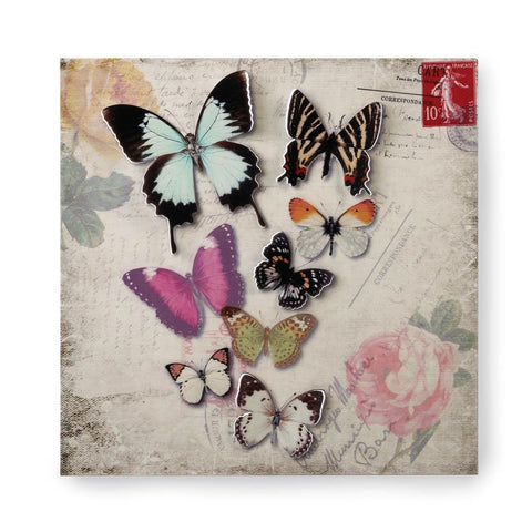 zk- BUTTERFLY POSTCARD 3-D WALL ART **Free Shipping**