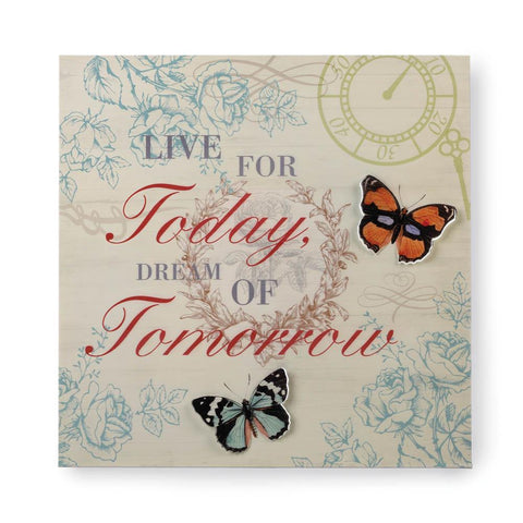 zi- LIVE AND DREAM 3-D BUTTERFLY WALL ART **Free Shipping**