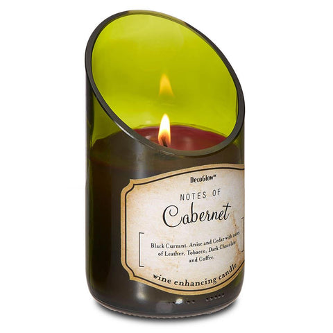 zf- WINE BOTTLE CABERNET SCENTED CANDLE **Free Shipping**