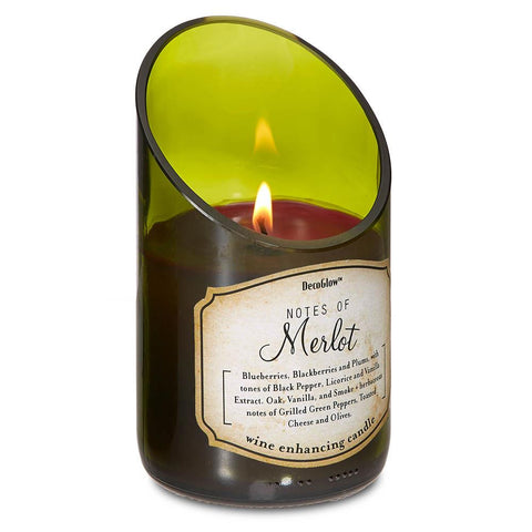 zd- **WINE BOTTLE MERLOT SCENTED CANDLE** Free Shipping