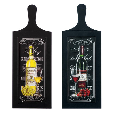 zb-*** WINE BOTTLE WALL ART DUO***                       Free Shipping