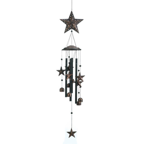 "o-                                              34"" BRONZE STARS WIND CHIMES--                                *******                                                                            Free Shipping"