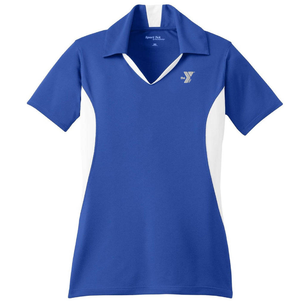 YMCA - Sport-Tek® Ladies Side Blocked Micropique Sport-Wick® Polo