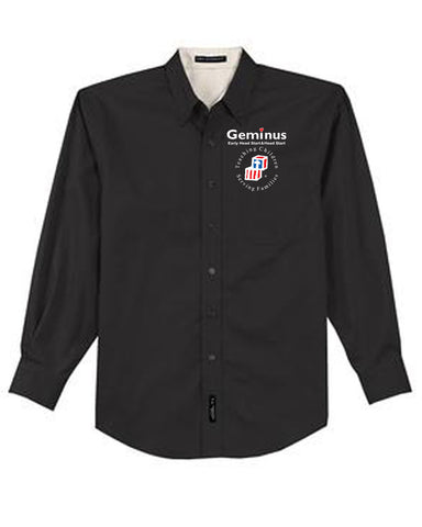 Geminus Mens Knit Button-Up