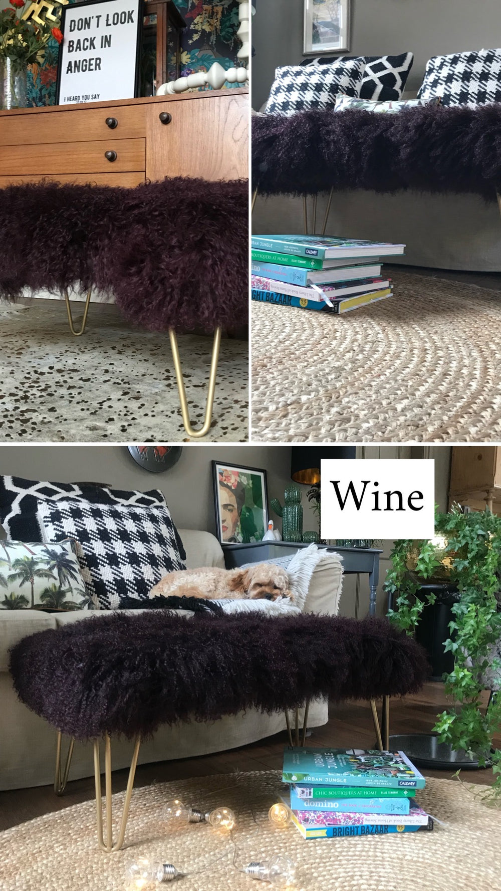 wine mongolian sheepskin